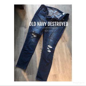 Old navy destroyed jeans size 20L/ rockstar